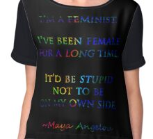 Feminist by Maya Angelou Chiffon Top