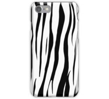 Original Zebra Print Black and White iPhone Case/Skin