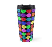 Black Neuron Dots  Travel Mug