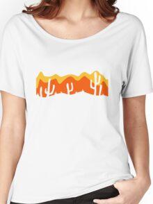 pattern desert evening night sunset sunrise kakten cactus hot hot Women's Relaxed Fit T-Shirt