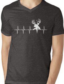 Hunting Deer Heartbeat Deer Mens V-Neck T-Shirt