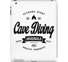 Cave Diving Extreme Sport Black Design Art iPad Case/Skin