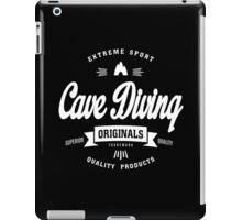 Cave Diving Extreme Sport White Design Art iPad Case/Skin