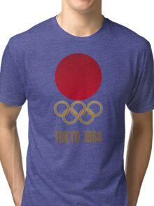 Japan Retro Tokyo Olympics 1964 Tri-blend T-Shirt