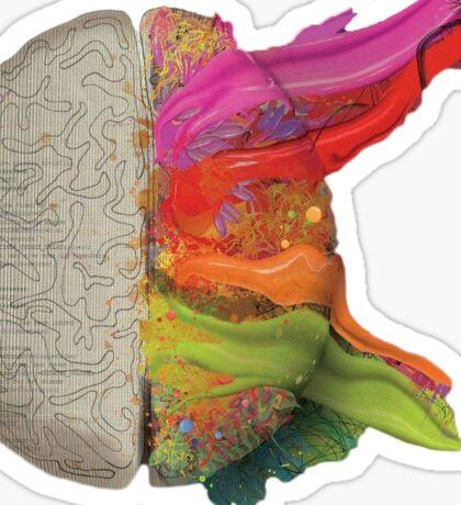 The coloured brain Sticker