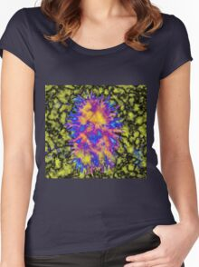 Psychedelic Smiles Women's Fitted Scoop T-Shirt