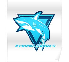 Cynical Sharks Logo Poster