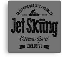 JetSkiing Extreme Sport Black Art Canvas Print