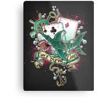 Poker Shark (black)  Metal Print