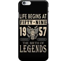 LIFE BEGINS AT 59 iPhone Case/Skin