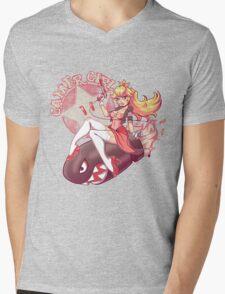 Gamer Girl Peach Mens V-Neck T-Shirt
