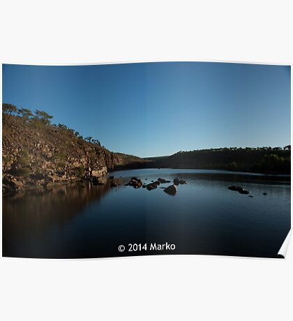 Beautiful Pentecost River, Western Australia Poster