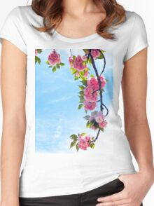 Blooming Blossoms  Women's Fitted Scoop T-Shirt