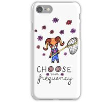 Choose Your Frequency: Bighorn Sheep Ram Whimsical Watercolor Illustration iPhone Case/Skin