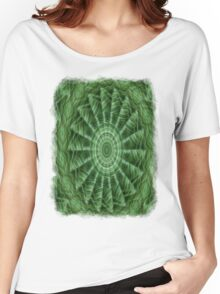 Green Stripes Kaleidoscope 8 Women's Relaxed Fit T-Shirt