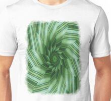 Green Stripes Kaleidoscope 7 Unisex T-Shirt