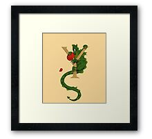 Dragon Letter Y 2016 Framed Print