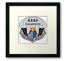 USAF Pararescue - Air Force Parachute Rescue Framed Print