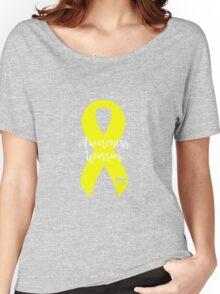 Awareness Warrior - Yellow Women's Relaxed Fit T-Shirt