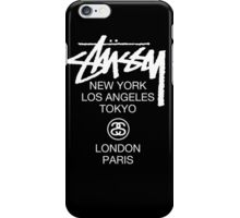 Stussy Logo Location high quality  iPhone Case/Skin