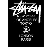 Stussy Logo Location high quality  Photographic Print