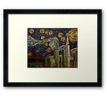 Dedication to Van Gogh: San Francisco Starry Night Framed Print