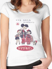 Cute Vintage Japanese Ad From The '50s Women's Fitted Scoop T-Shirt