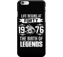 LIFE BEGINS AT 40 iPhone Case/Skin