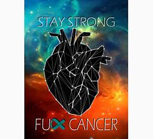 Fuck Cancer // Galaxy //  Geo Heart // Ovarian   Unisex T-Shirt