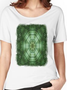Green Stripes Kaleidoscope 4 Women's Relaxed Fit T-Shirt