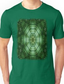 Green Stripes Kaleidoscope 4 Unisex T-Shirt