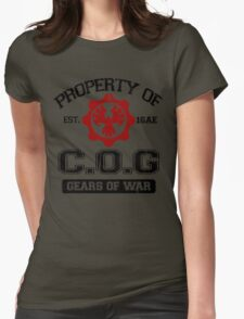 Property of COG - Black Womens Fitted T-Shirt