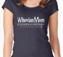 Whovian Mom... Just Like Other Moms But... Women's Fitted Scoop T-Shirt