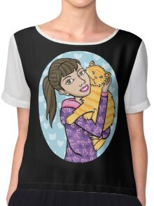 I love my cat! Chiffon Top