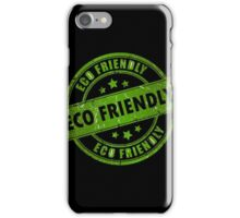 Green Eco Friendly Stamp iPhone Case/Skin