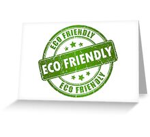 Green Eco Friendly Stamp Greeting Card