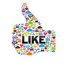 Like Social Media Photographic Print