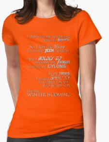 All the Fandoms Mashup Womens Fitted T-Shirt