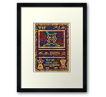 ANCIENT MEW - Pokemon Card T-Shirt Framed Print