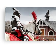 24.4.2016: Knight and Horse Canvas Print