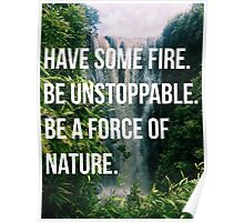 BE UNSTOPPABLE Poster