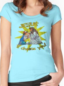 Jesus I Choose You! Women's Fitted Scoop T-Shirt