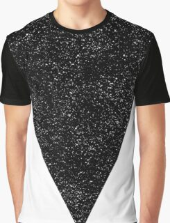 Black Starry Triangle Graphic T-Shirt