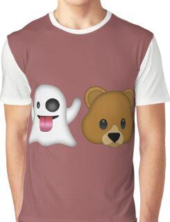 Ghost Bear 53 Emoji Graphic T-Shirt