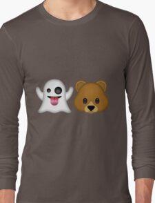 Ghost Bear 53 Emoji Long Sleeve T-Shirt