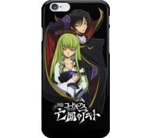 code geass zero and C together iPhone Case/Skin