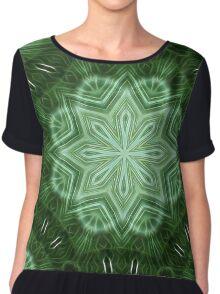 Green Stripes Kaleidoscope 2 Chiffon Top