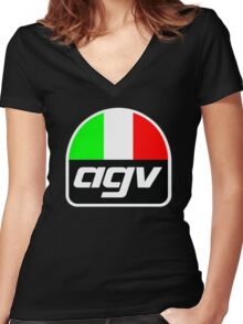 AGV helmet Italy Sunvisor Women's Fitted V-Neck T-Shirt