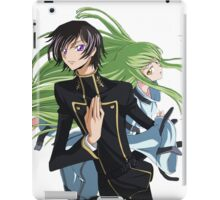 lelouch and C back to back iPad Case/Skin