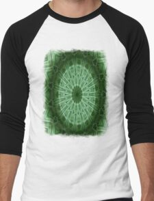 Green Stripes kaleidoscope 1 Men's Baseball ¾ T-Shirt